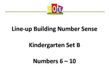 Common Core-Building Number Sense Kindergarten Card Set 6 - 10