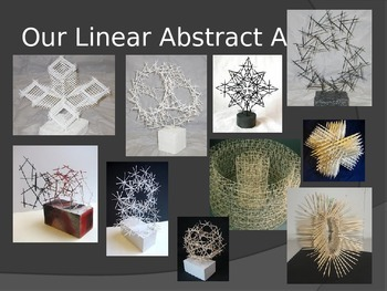 Linear Abstract Toothpick Sculpture