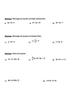 Linear Algebra Concepts