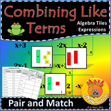 Combining like terms - Equivalent expressions Using Algebra Tile Models