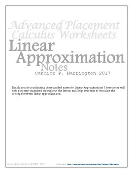 Linear Approximation Guided Notes with Teacher Version