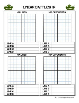 Linear Battlefield -- Graphing Linear Equations - 21st Century Math Project