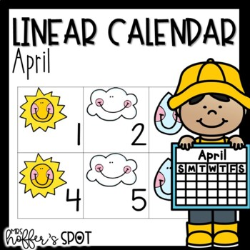 Linear Calendar -April