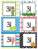 Linear Calendar Cards