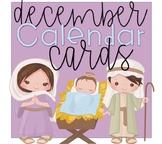 Linear Calendar Cards December