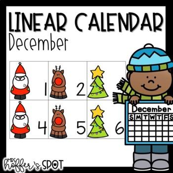 Linear Calendar -December