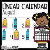 Linear Calendar -August