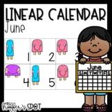 Linear Calendar -June
