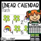 Linear Calendar -March
