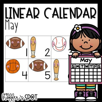 Linear Calendar -May