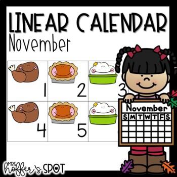 Linear Calendar -November