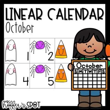 Linear Calendar -October