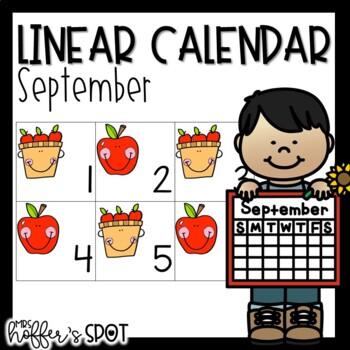 Linear Calendar -September