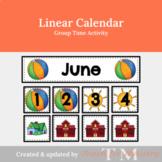 Linear Calendar for Preschool