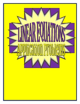 Linear Equation Application Problems