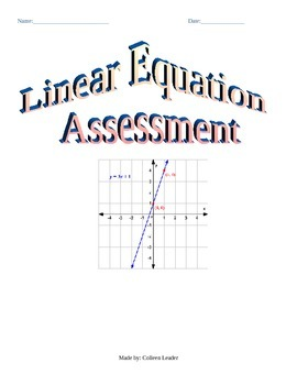 Linear Equation Assessment