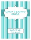 Linear Equation Bingo Algebra 1