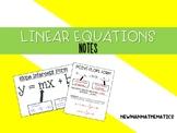 Linear Equation Forms Notes Bundle
