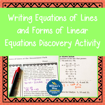 Equations of Lines Discovery Activity and Forms of Linear Equations