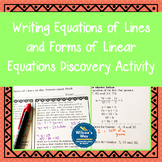 Equations of Lines and Forms of Linear Equations Discovery Activity