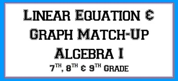 Linear Equation & Graph Match-Up