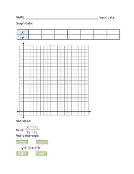 Linear Equation Hands on Differentiated Lesson