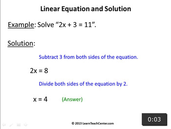 Linear Equation In One Variable: Two Steps