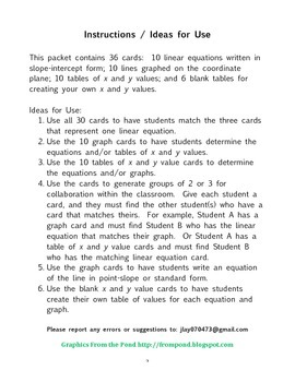 Linear Equation Matching Game