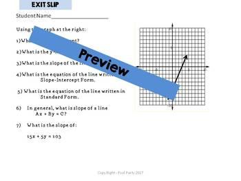 Linear Equation - Point Slope & Slope Intercept Form - Find Your Partner