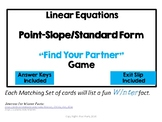 Linear Equation - Point Slope & Slope Intercept Form - Find Your Partner