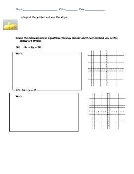 Linear Equation & Slope Practice Test