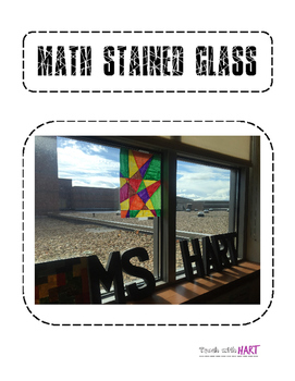 Linear Equation Slope Stained Glass