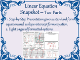 Linear Equation Snapshot