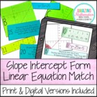 Linear Equation Card Match (Slope Intercept Form)
