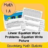 Linear Equation Word Problems - Equation Write Picture