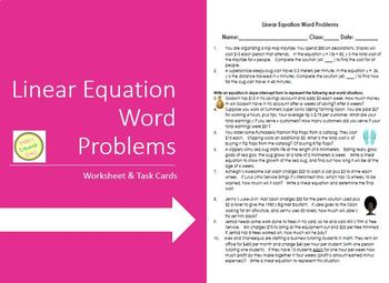 20 Awesome Linear Equations Word Problems Worksheet additionally word problems worksheets alge – stephanie therese further Cool Worksheet Linear Word Problems Worksheet Lindacoppens Worksheet as well word problems systems of linear equations – papakambing further  further Standard Form Linear Equation Calculator Solving Equations Worksheet also  as well  moreover Algebra Linear Equations Word Problems Worksheets Infinite likewise Worksheet Word Problems Linear Equations Luxury Two Step Equations additionally  together with  additionally Alge 1 Word Problems Worksheets Solving Word Problems In Alge in addition Linear Equation Word Problems worksheet   task cards   simple also linear word problems worksheet math – almuheet club besides system of linear equations word problems – unitetoeducate. on linear equations word problems worksheet
