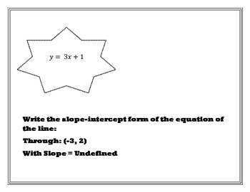 Linear Equation from Slope and a Point