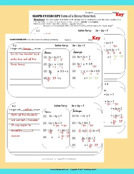 Error Analysis: Solving Linear Equations for y.