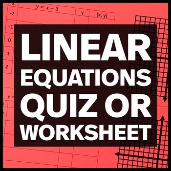 Linear Equations by Amy Harrison | Teachers Pay Teachers