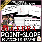 Graphing and Writing Linear Equations in Point-Slope Form Celebrity Card Match