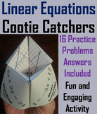 Solving Linear Equations Practice Activity/ Slope Intercept Equation 7th 8th 9th