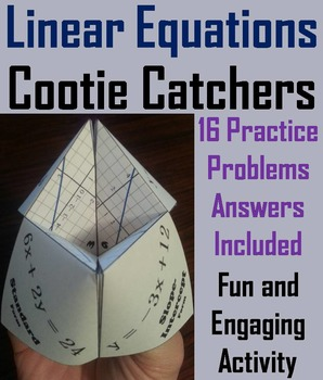 Solving Linear Equations Practice Activity/ Slope Intercep