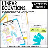 Linear Equations Activity Bundle