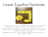Writing Linear Equations Activity - Dominoes