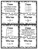 Writing Linear Equations Activity - I Have Who Has
