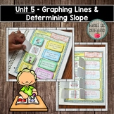 Algebra Interactive Notebook Unit 5 - Graphing Lines & Determining Slope
