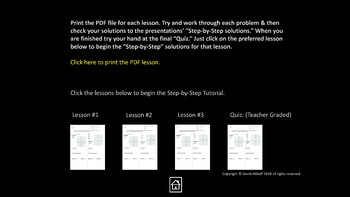 Linear Equations: Animated Step-by-Step Solutions 3 Printable PDF Lessons & Quiz