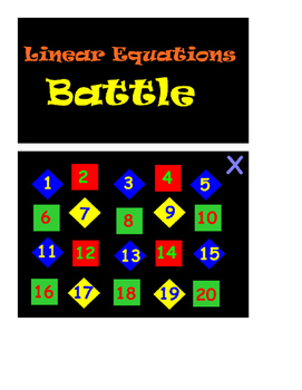 Linear Equations Battle