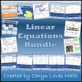 Linear Equations Bundle-18 Activities & Walls That Teach~Slope-Graphing-Parallel