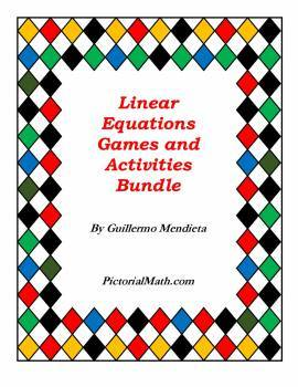 Graphing /Solving Linear Equations: Collection of Games and Learning Activities